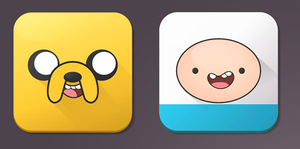 Jake the dog and Finn the human