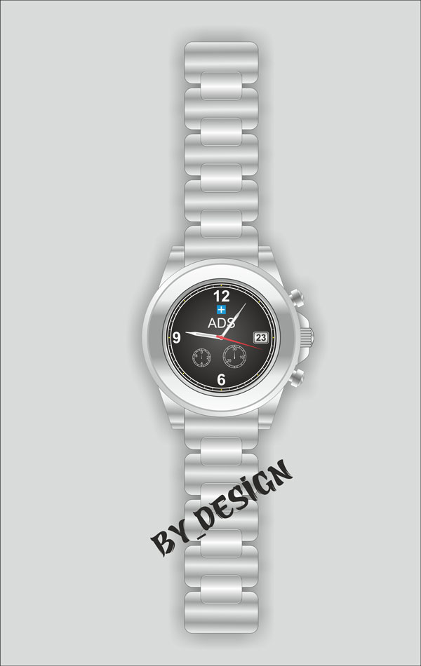 Burhan Yaln shared their wonderful version of a wristwatch illustration from a tutorial by Dimas Angga Permana