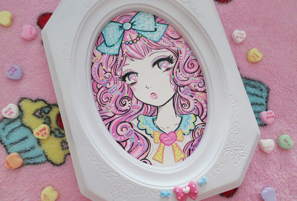 Lizs piece for the Sugar high Club show at Slushbox Gallery in 2014