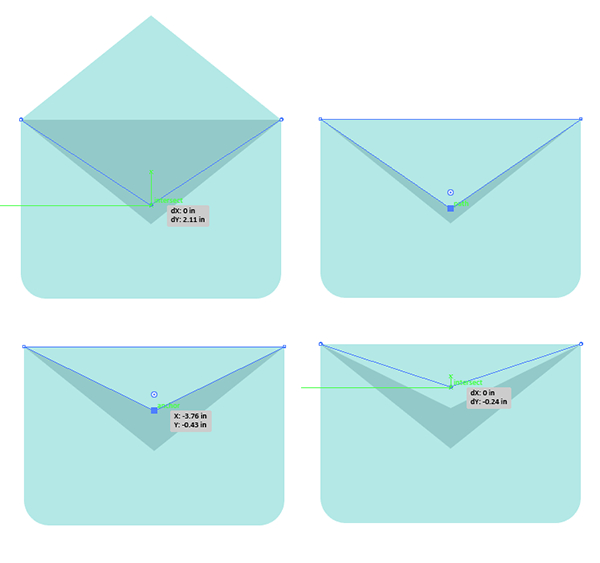Create multiple iterations of the envelope opening and closing
