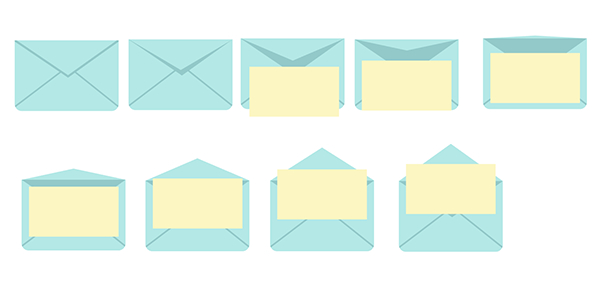 Draw rectangles over each envelope