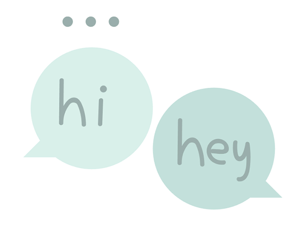 Draw separate letters within your chat bubbles