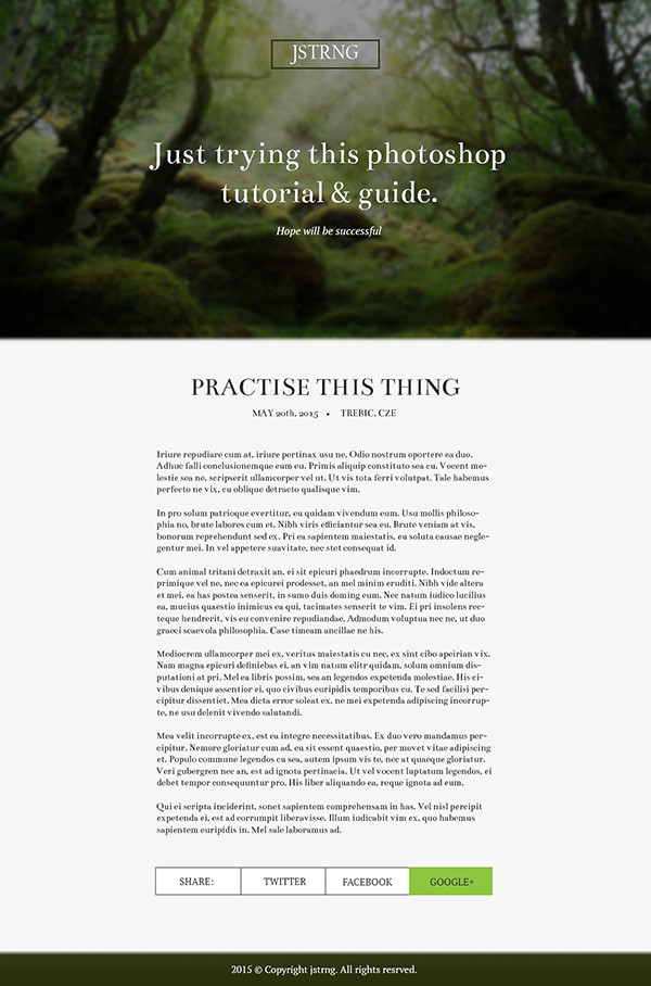 User Jakub shared his result from an elegant blog layout tutorial by Tomas Laurinavicius