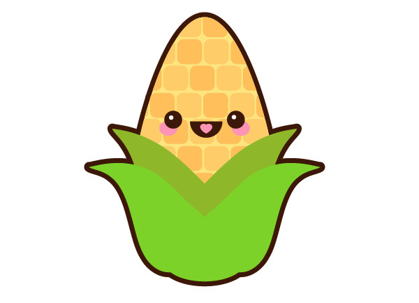 Complete the corn on the cob design and group it all together
