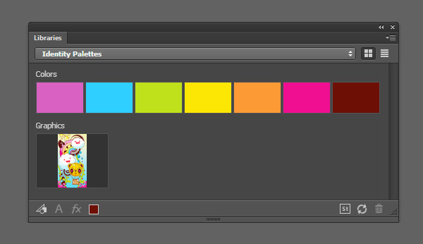 An example of a vivid and bright color palette