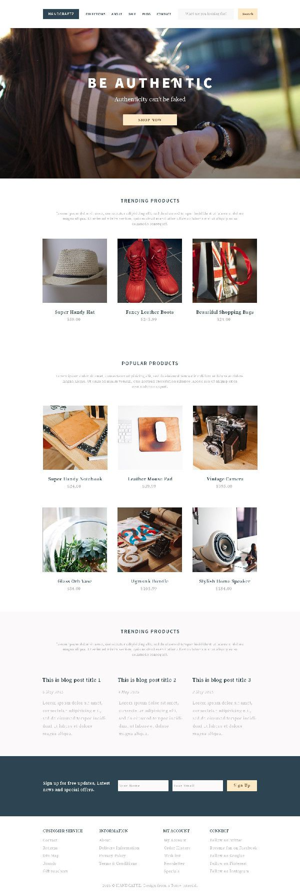 Fathia Gamal shared her own take on a shopify theme from a tutorial by Tomas Laurinavicius