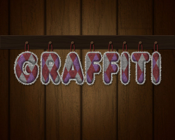 User lestath87 shared their personalized result from a knitted text effect tutorial by Rose