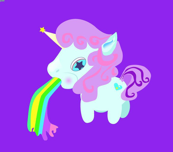 Skye Avalon shared their take on a silly unicorn illustration from a tutorial by Mary Winkler