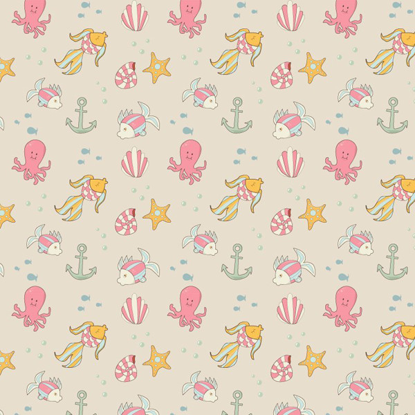 Tessa shared her fantastic rendition of an underwater seamless pattern on a tutorial by Yulia Sokolova