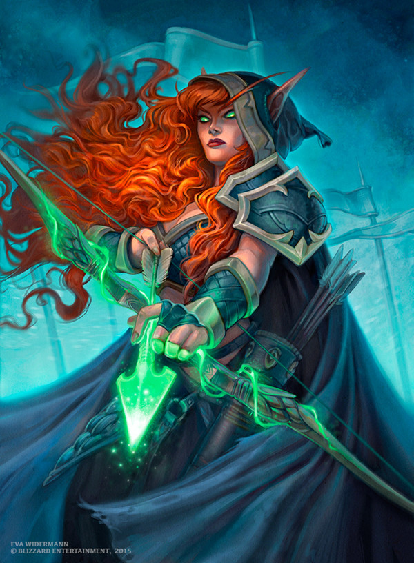 Card art for Blizzard Entertainments Hearthstone by Eva Widermann