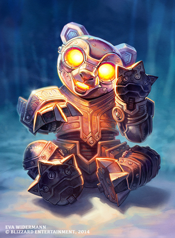 Anodized Robo Cub art for Blizzard Entertainments Hearthstone