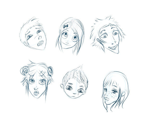 User Nemosia shared their portrait sketches after following a cartoon face tutorial by Carlos Gomes Cabral