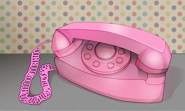 Vera Raziote shared her tale on a retro phone illustration tutorial by Mary Winkler