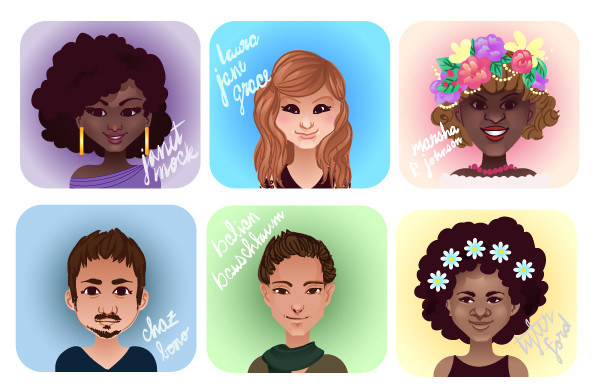 Create Cartoon Icons for Transgender Awareness Week in Adobe Illustrator