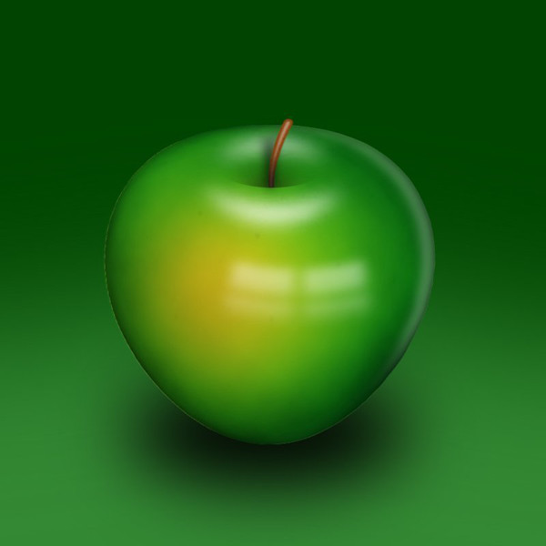 User anshul shared their delicious take on a realistic apple illustration from a tutorial by Eren Goksel