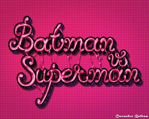 Galina Cuznetova payed homage to two superb superheroes on a glossy text effect tutorial by Samuel Mensah