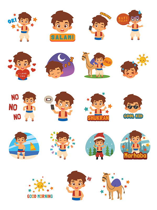 Sticker designs for LINE