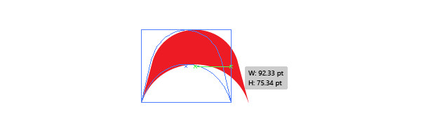 curve the rectangle and expand the object