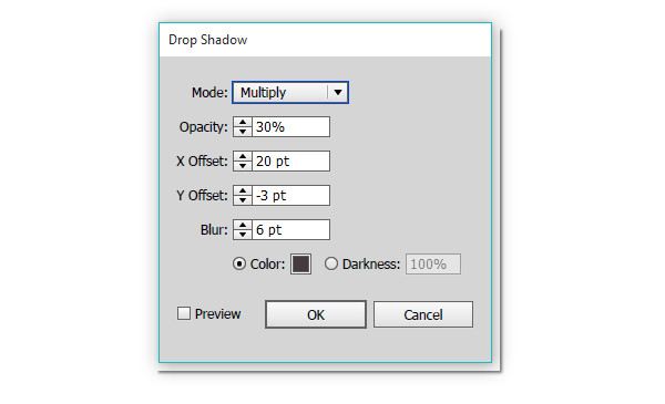 Apply a drop shadow to the ribbon object