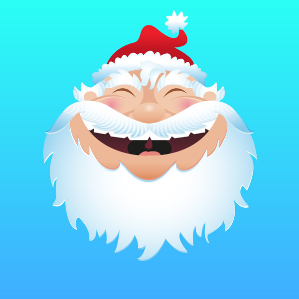 User magdalena shared her jolly good version of a jolly Santa illustration thanks to a tutorial by Von Glitschka