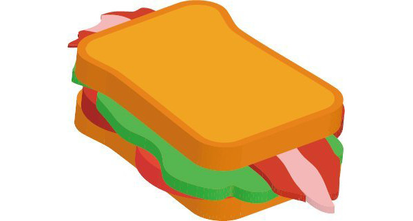 Linda Zeng shared her result from a fun 3D vector sandwich tutorial by Simona Pfreundner