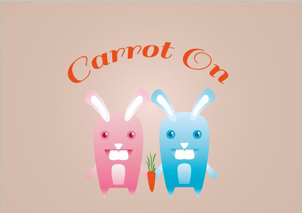User stephany shared her adorable result from a fun bunny vector tutorial by Ryan Putnam