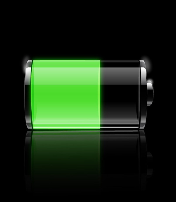 User nobby commented with their result from a transparent battery icon tutorial by Bill Labus