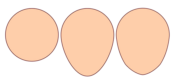 Create a head shape from a simple circle