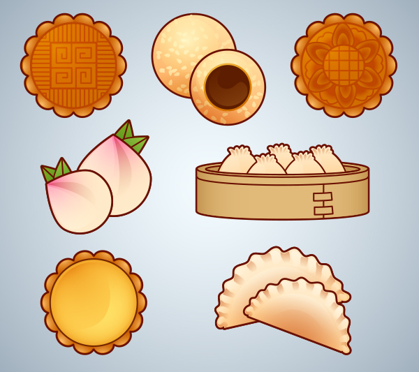 How to Create Mooncake and Dim Sum Icons for Chinese New Year