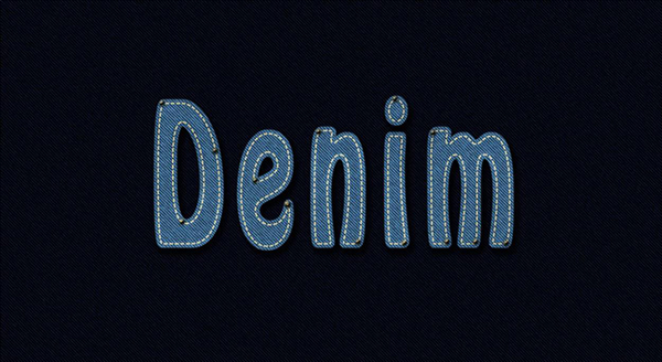 User Iqra shared their own result from a denim inspired text effect tutorial by Rose