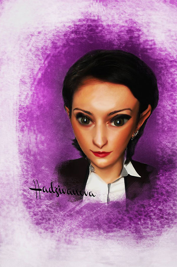 User Bojana6 shared her own self-portrait created from a caricature tutorial from Kirk Nelson