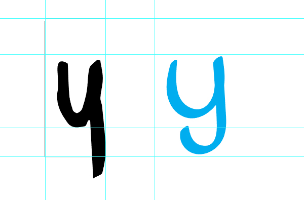 Some letterforms change when you refine them