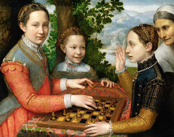Lucia Minerva and Europa Anguissola Playing Chess