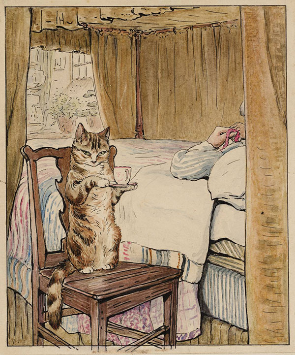 Simpkin at the Tailors Bedside