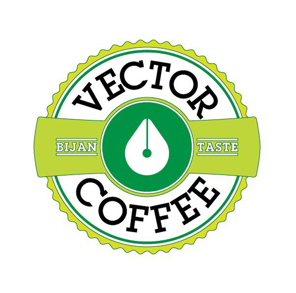 Najib Saad commented with his green-themed result from a coffee house logo tutorial by Chris Carey