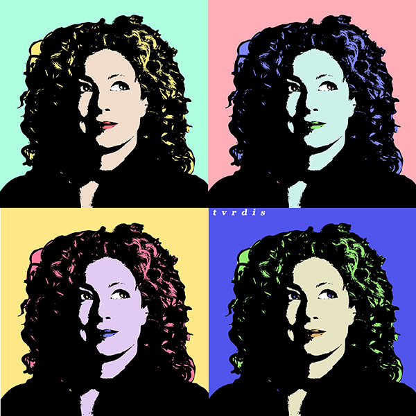Hannah B commented with a Doctor Who-inspired take on an Andy Warhol-styled portrait from a tutorial by Sharon Milne