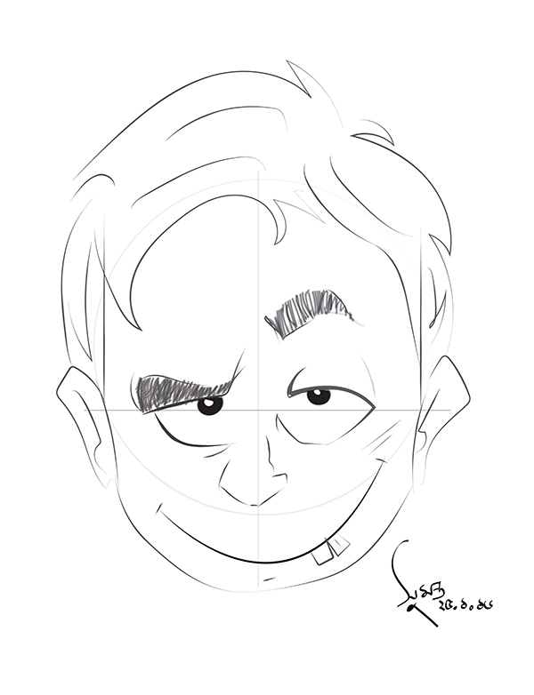 Sumanta Mallick also commented with their own versions of fantastic cartoon faces thanks to Carlos Gomes Cabrals inspiring drawing tutorial