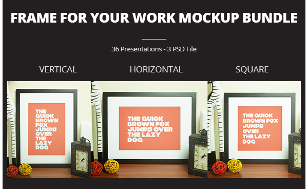 Frame For Your Work Mockup Bundle
