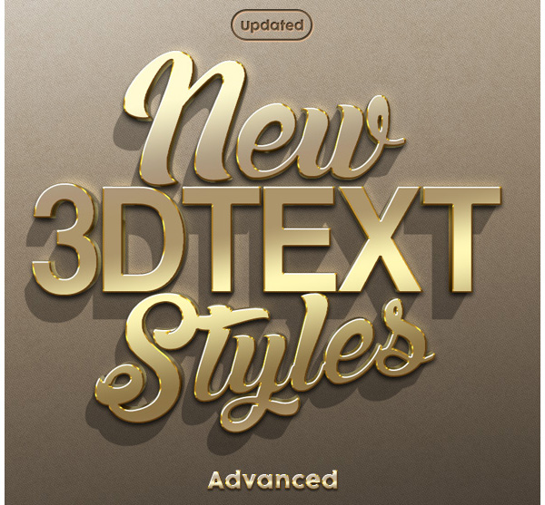 New 3D Text Styles Advanced