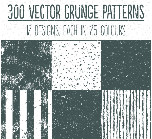 Vector Grunge Repeat Patterns