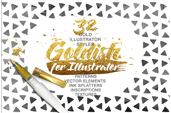 Goldish - Gold Styles For Illustrator