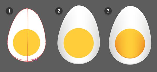Tambahkan jerat gradien ke benda telur agar bisa memberi mereka