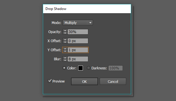 how to create drop shadow in illustrator