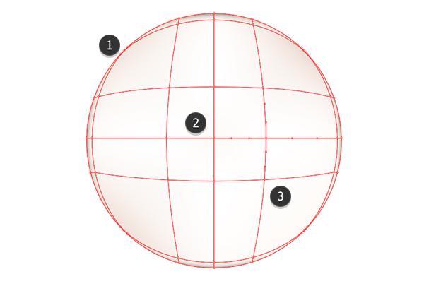 Render sebuah lingkaran dengan alat mesh