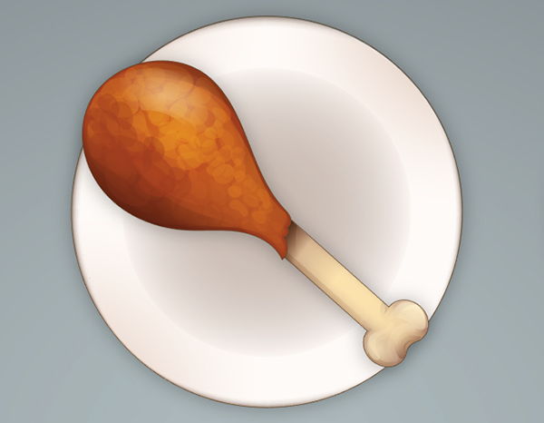 Complete your drumstick and place it on a plate