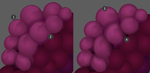 Render the grapes