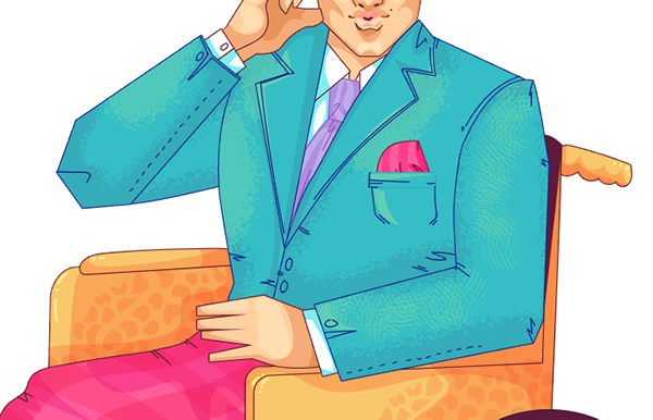Add additional details on the suit jacket