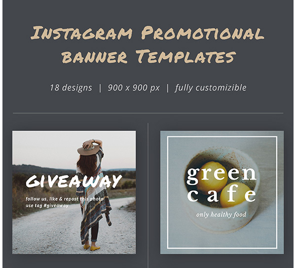 Instagram Promotional Banner Templates