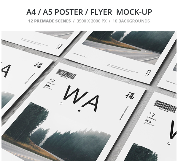 A4  A5  Poster  Flyer Mockup