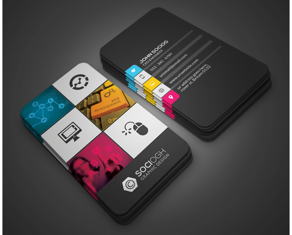 The graphic designers presentation and promotion kit modern business card colourmoves